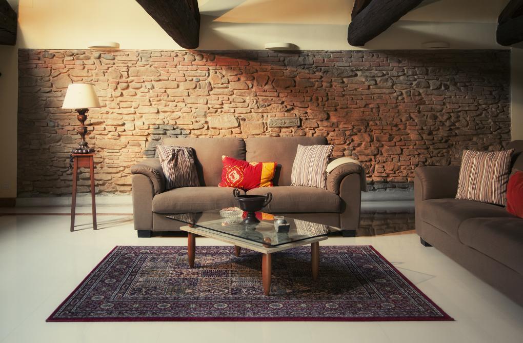 Perský koberece se skvěle hodí do obývacího pokoje.