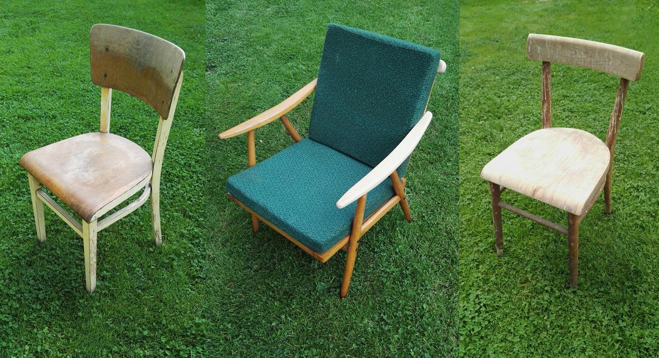 Ze staré židle uděláme novou