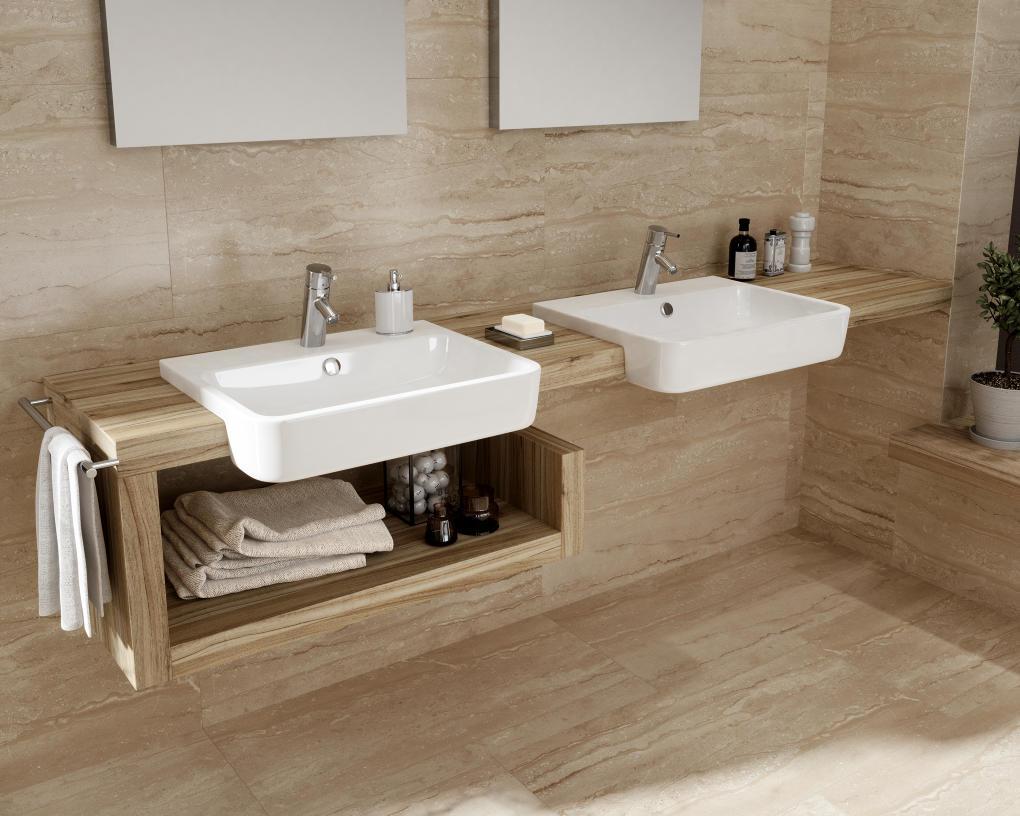 Úložné prostory v koupelně mouhou být i pod umyvadlem - inspirace od studia SVĚT KOUPELNY