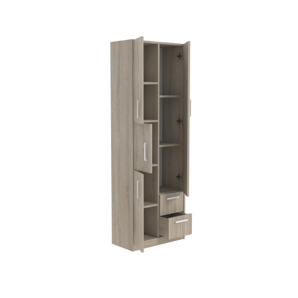 Koupelnová skříňka šířka 60 cm bez koše 8 polic