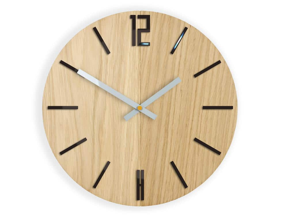 Nástěnné hodiny Carlo černé