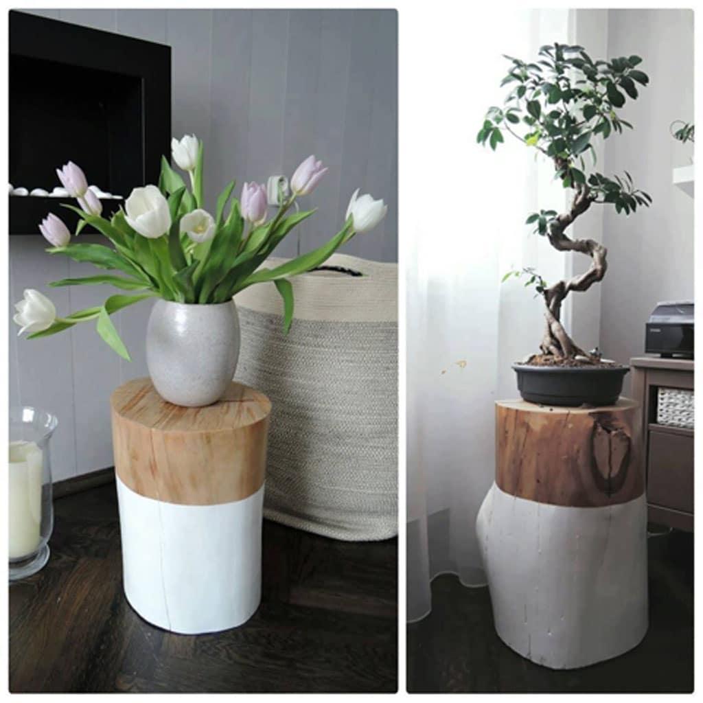 Stojan na květiny ze špalku – ilustrační obrázek, zdroj