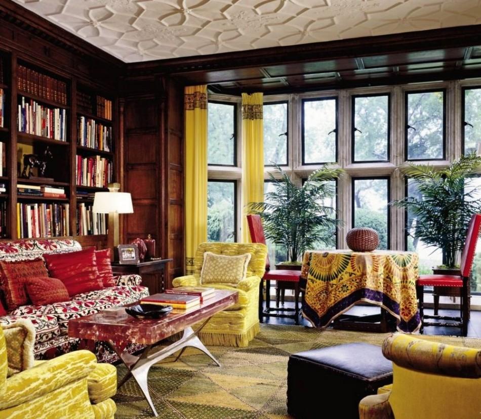 Hravá a barevná realizace obývacího pokoje - zdroj