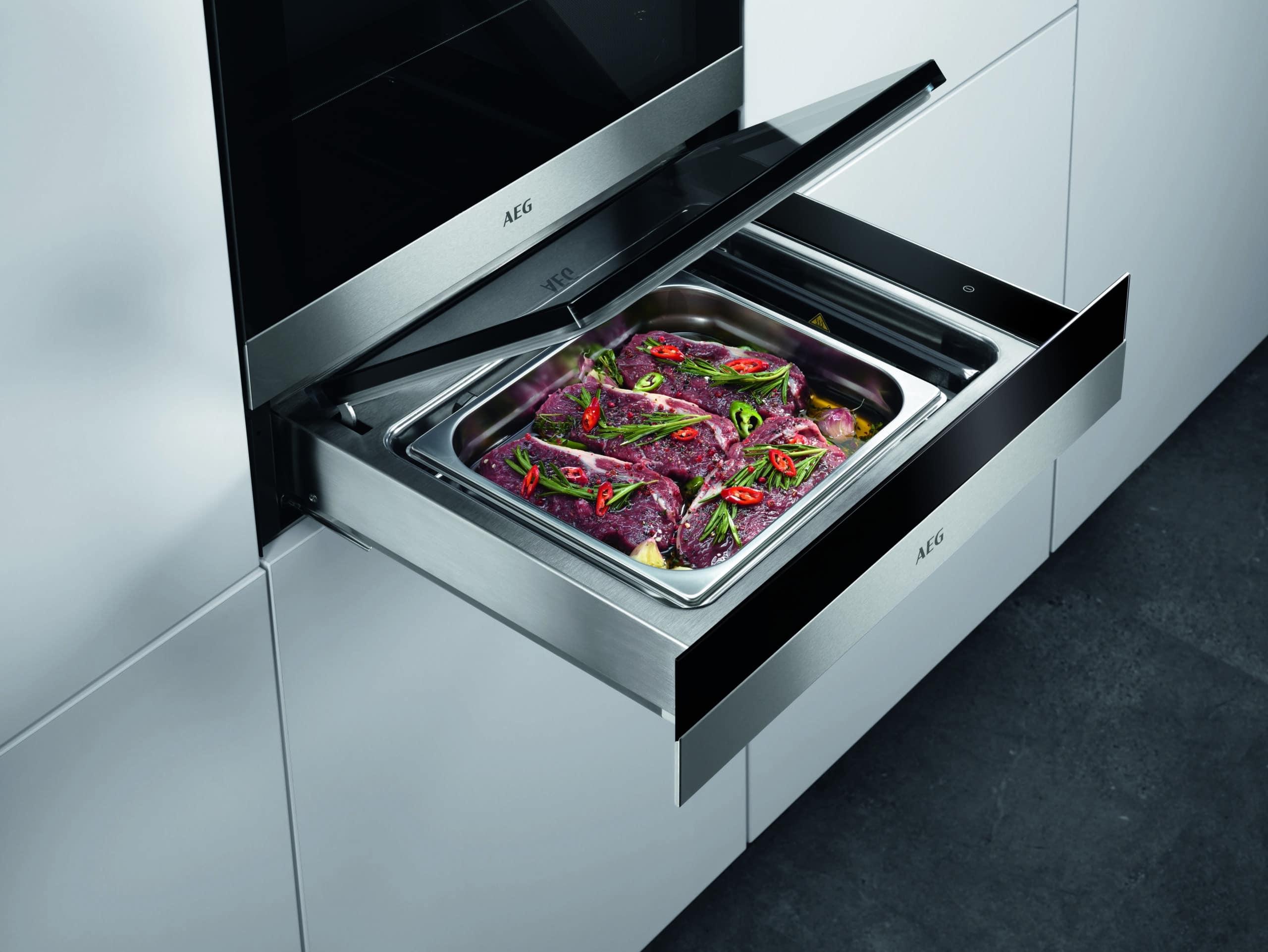 Ohřevná zásuvka v kuchyni
