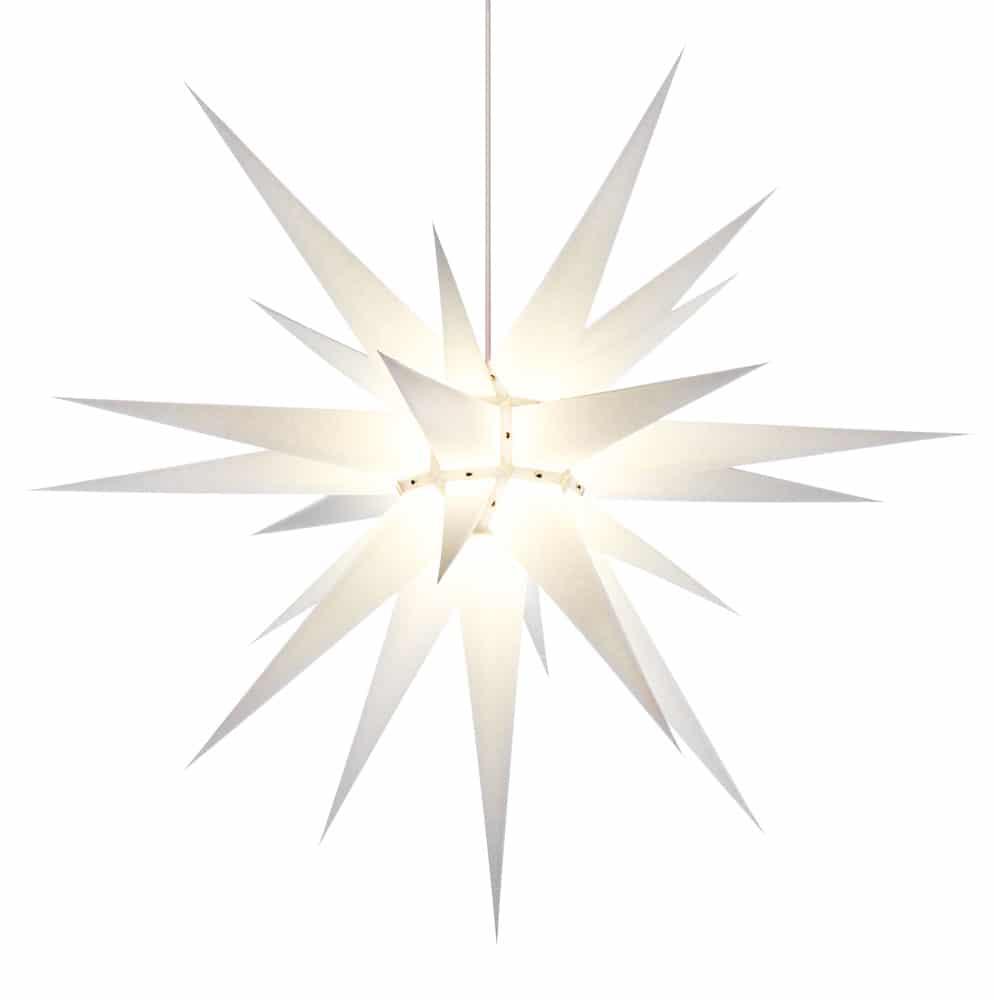 Herrnhutská hvězda i8 - bílá, ∅ 80 cm