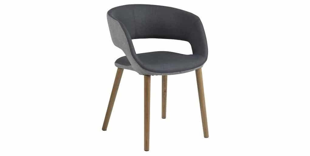 Jídelní/jednací židle s područkami Milla, šedá SCHDN0000059830S SCANDI