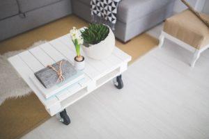 Obývací pokoj ve skandinávském stylu