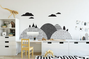 Dekornik Dekorace za postel DEKORNIK - Hory Skandinávské