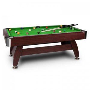 Oneconcept Brighton, zelený, 7ft (122x 82 x 214 cm), kulečníkový stůl, sada příslušenství, dřevěný design