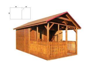 DREWMAX Zahradní domek z masivního smrkového dřeva 300 x 520 - TÝK + LAK