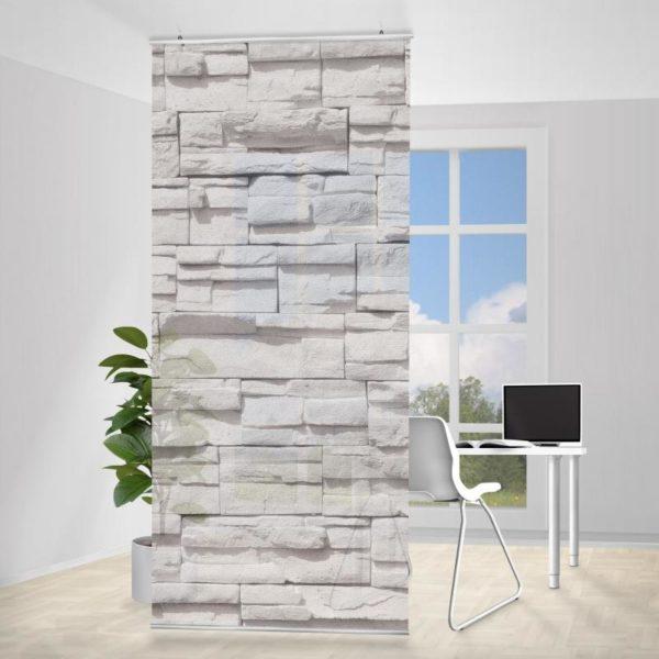 Závěsná dělící stěna Ashlar Masnory, 250 x 120 cm