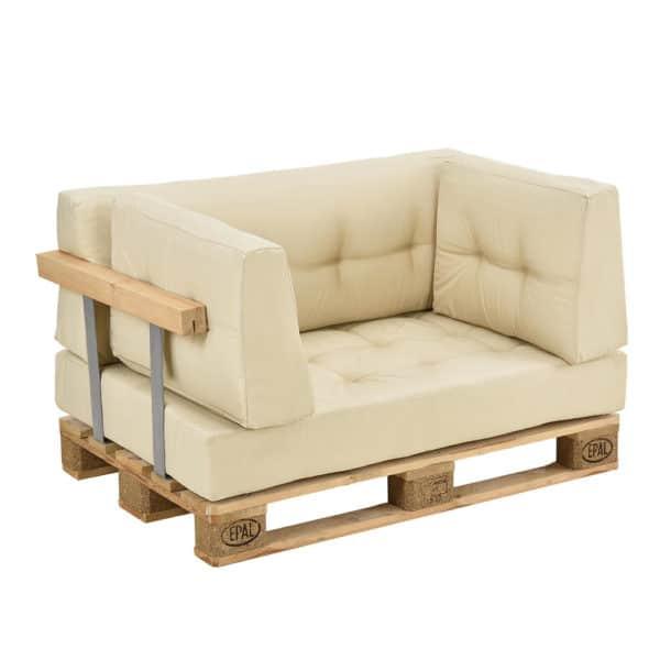 [en.casa]® Paletový nábytek - kompletní sada - model 2 - béžová
