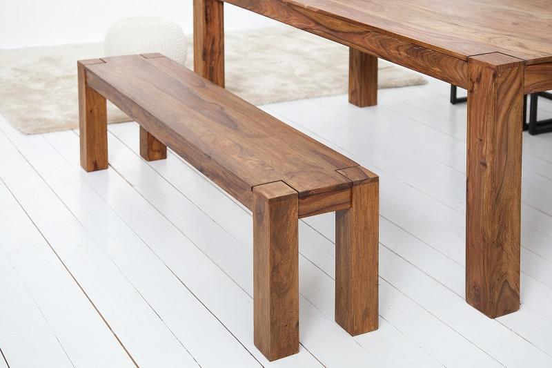 Deflee stolová lavice MAKASSAR 160-S masiv sheesham LVC15520masivní dřevo - indický palisandr (sheesham), leštěný vosk 160 cm x 45 cm x 35 cm