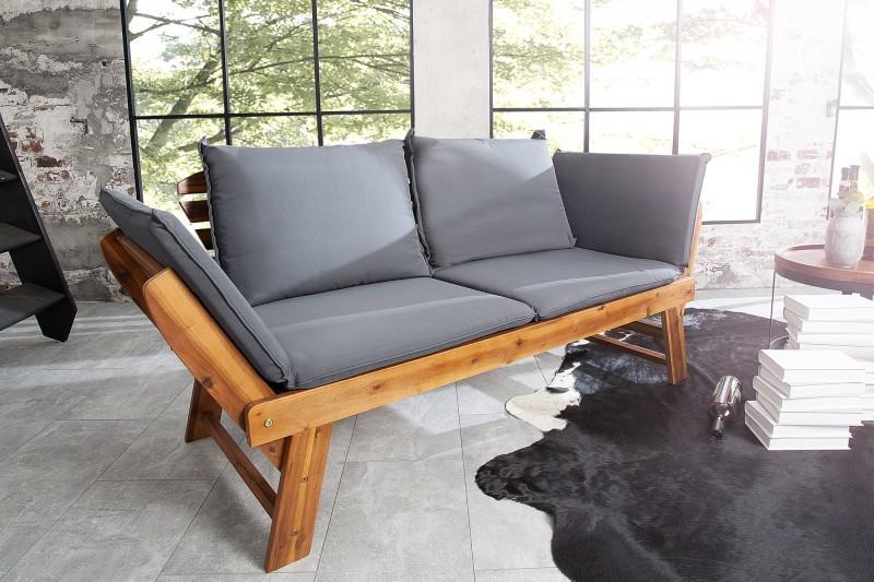 Deflee zahradní lavice MODULAR masiv akácie, rozkládací ZL37568masivní akáciové dřevo 152 cm-190 cm x 75 cm x 68 cm